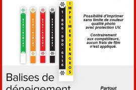 IMPRIMERIE - BALISES DE DÉNEIGEMENT
